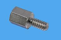 SUB-D Abstandsbolzen Distinex® sechskant mit Gewindefreistich