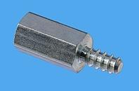 Abstandsbolzen Distinex® sechskant, selbstschneidend mit Gewindefreistich D010029