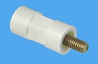Abstandsbolzen Distinex® sechskant/rund, Kunststoff-Metall