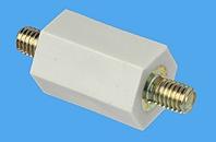 Abstandsbolzen Distex® sechskant, Bolzen durchgängig, Kunststoff-Metall