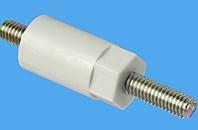 Abstandsbolzen Distex® sechskant/rund, Kunststoff-Metall