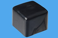 Rohrkappen quadratisch aus Weich-PVC (Tauchkappen)